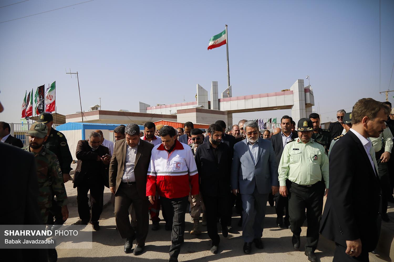 بازدید دکتر پیوندی رییس جمعیت هلال احمر از مرز چذابه و مهران